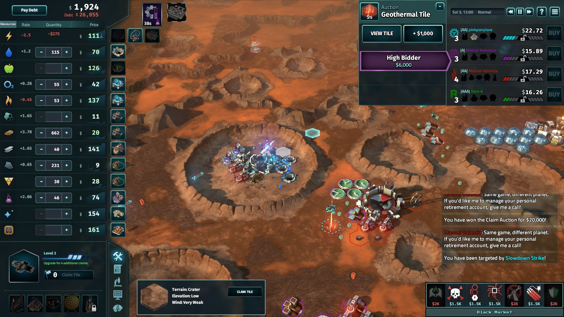 Game tip, Offworld Trading Company